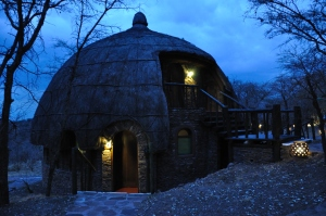 Our huts for the evening, perched on the edge of the Serengeti.