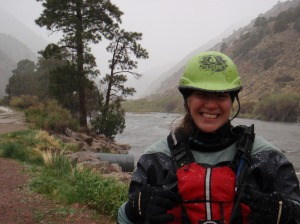 I am NOT smiling in this picture. It's more of a grimace. Brrr!