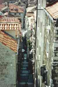 Narrow streets and stairways